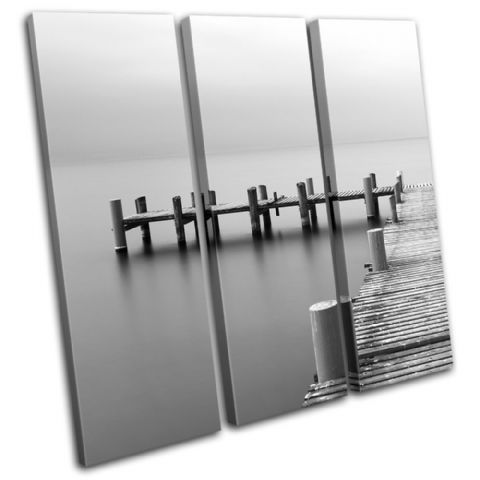 Wooden jetty Sunset Seascape - 13-0390(00B)-TR11-LO